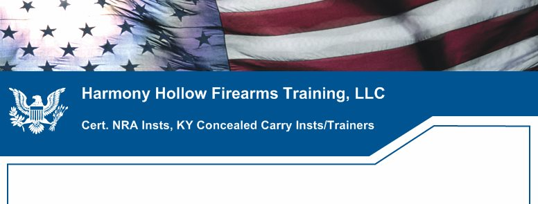 Harmony Hollow Firearms Training, LLC - Safe Training by NRA Certified Instructors